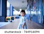 children playing outdoors   Shutterstock . vector #764916094