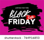 black friday sale banner | Shutterstock .eps vector #764916853