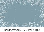 winter xmas christmas seasonal... | Shutterstock .eps vector #764917480