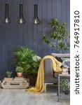 grey wooden wall travel concept ... | Shutterstock . vector #764917810