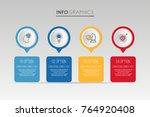 modern info graphic template... | Shutterstock .eps vector #764920408