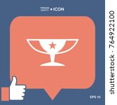 awards champions cup icon with...   Shutterstock .eps vector #764922100