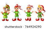 Four Christmas Elves Different...