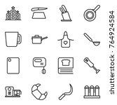 thin line icon set   hotel ... | Shutterstock .eps vector #764924584