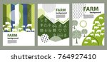 agricultural brochure layout... | Shutterstock .eps vector #764927410