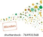 abstract background on a theme... | Shutterstock .eps vector #764931568