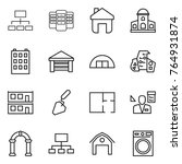 thin line icon set   hierarchy  ...   Shutterstock .eps vector #764931874