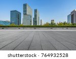 modern buildings and empty...   Shutterstock . vector #764932528