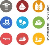 origami corner style icon set   ... | Shutterstock .eps vector #764941804