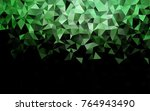 dark green vector abstract... | Shutterstock .eps vector #764943490
