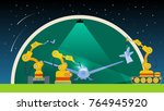 technician and welder robots ... | Shutterstock .eps vector #764945920