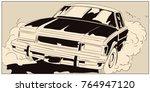 stock illustration. people in... | Shutterstock . vector #764947120