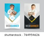 set of vertical web banners... | Shutterstock .eps vector #764954626