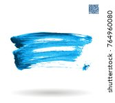 blue  brush stroke and texture. ... | Shutterstock .eps vector #764960080