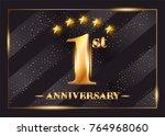 1 year anniversary celebration... | Shutterstock .eps vector #764968060
