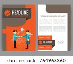 vector business flyer  magazine ... | Shutterstock .eps vector #764968360