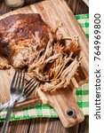 slow cooked pulled pork... | Shutterstock . vector #764969800