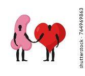 penis and heart friends.... | Shutterstock . vector #764969863