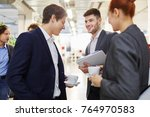 business colleagues making... | Shutterstock . vector #764970583