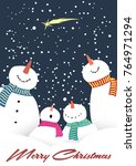 merry christmas and happy new... | Shutterstock .eps vector #764971294