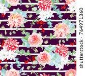 dark chocolate striped pattern... | Shutterstock .eps vector #764971360