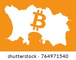 jersey map with bitcoin crypto... | Shutterstock .eps vector #764971540