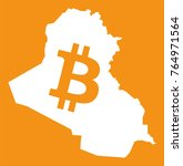 iraq map with bitcoin crypto... | Shutterstock .eps vector #764971564