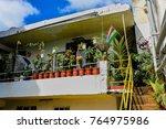 bain boeuf  mauritius april 25  ... | Shutterstock . vector #764975986