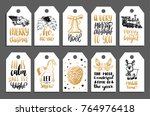 set of tags with hand written... | Shutterstock .eps vector #764976418