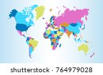 color world map vector | Shutterstock .eps vector #764979028
