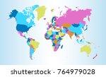 color world map vector | Shutterstock .eps vector #764979028