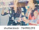 business  startup  planning ... | Shutterstock . vector #764981293