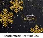 elegant christmas background... | Shutterstock .eps vector #764985823