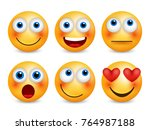 set of emoji. smileys emoticons.... | Shutterstock .eps vector #764987188