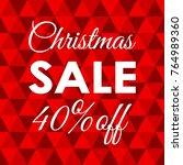 christmas sale banner. 40... | Shutterstock .eps vector #764989360
