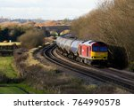 ageing diesel locomotive 60020... | Shutterstock . vector #764990578