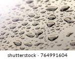 drops of rain or water drop on... | Shutterstock . vector #764991604