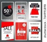 set of sale banner templates.... | Shutterstock . vector #764991898