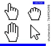 pointer  drag hand  palm hand... | Shutterstock .eps vector #764992498