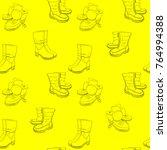 vector illustration of hand... | Shutterstock .eps vector #764994388