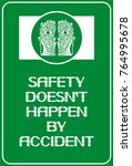 safety doesn t happen by... | Shutterstock .eps vector #764995678