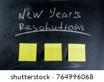 new years resolutions ... | Shutterstock . vector #764996068