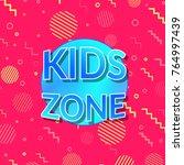 children playground zone bright ... | Shutterstock .eps vector #764997439