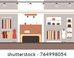 interior of a modern and...   Shutterstock .eps vector #764998054