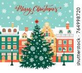 christmas vector illustration... | Shutterstock .eps vector #764998720
