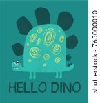 cute dinosaur illustration as... | Shutterstock .eps vector #765000010