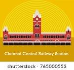 chennai central railway station | Shutterstock .eps vector #765000553