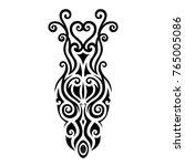pattern maori polynesian tattoo ... | Shutterstock .eps vector #765005086