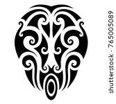 maori pattern art polynesian... | Shutterstock .eps vector #765005089