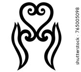 tattoo tribal maori vector... | Shutterstock .eps vector #765005098